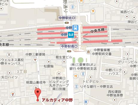 柿崎祥子フラメンコ教室 中野校 地図